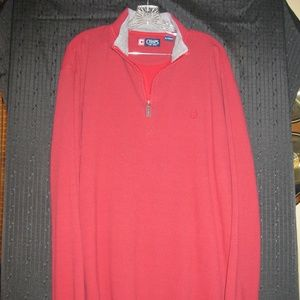 CHAPS High Neck 1/2 Zip Cotton Sweater